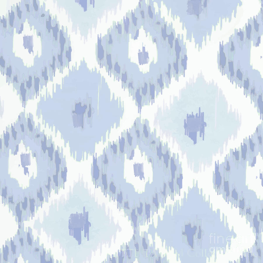 Ikat Painting - Kasbah Blue Ikat by Mindy Sommers