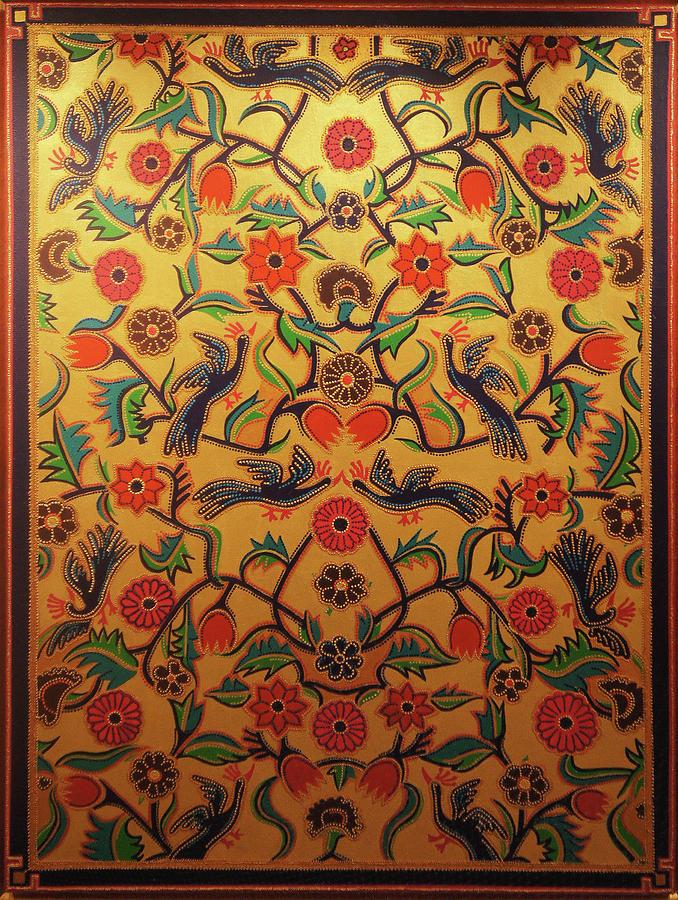 Kashmirs Kashida Painting by Arpita B Ruparel