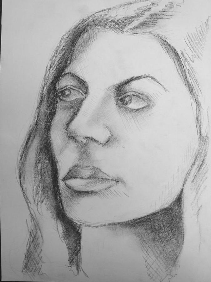 Portrait Drawing - Kasiani by Candice DeKay