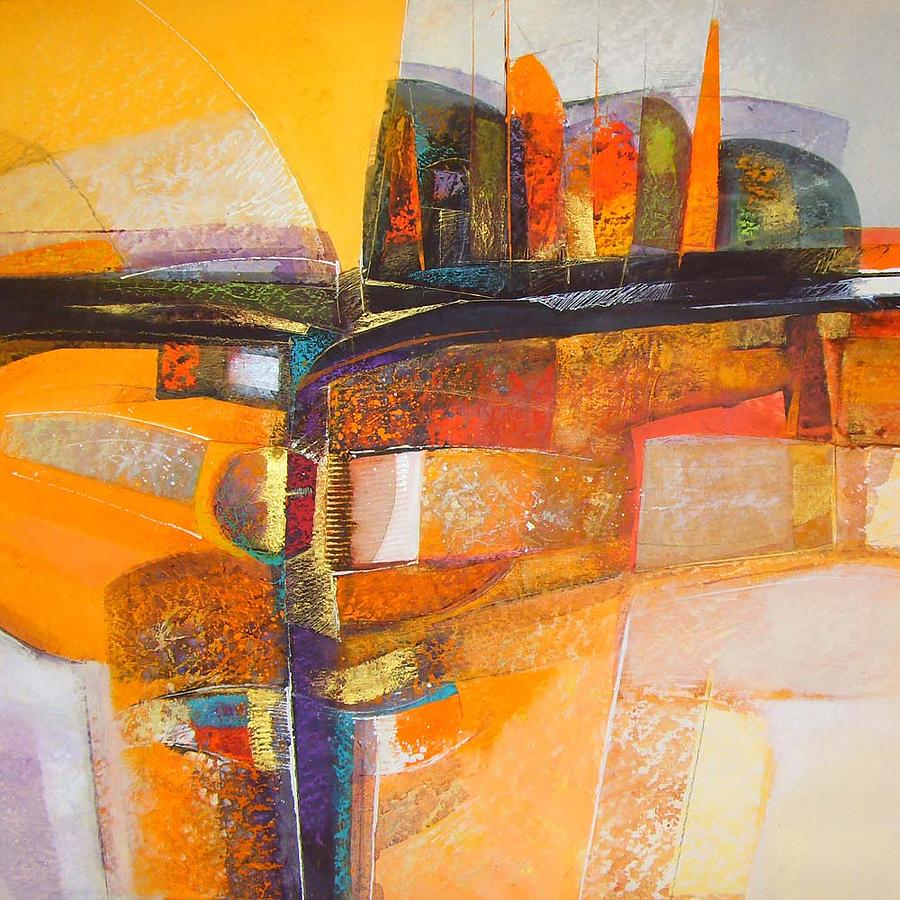 Abstract Impressionism Mixed Media - Kasiling by Edbon Sevilleno