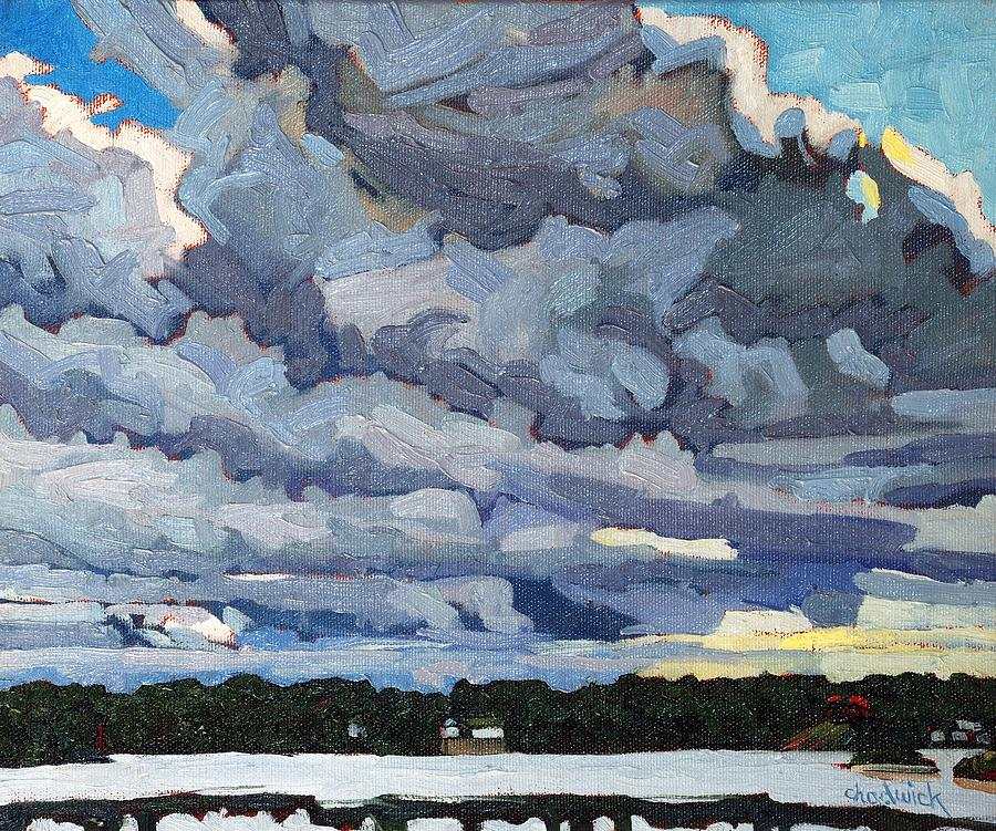 Katabatic Painting - Katabatic Cold Front by Phil Chadwick