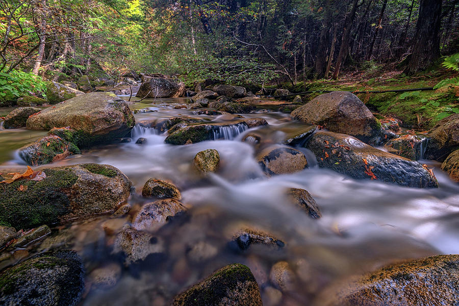 Waterfall Photograph - Katahdin Stream by Rick Berk