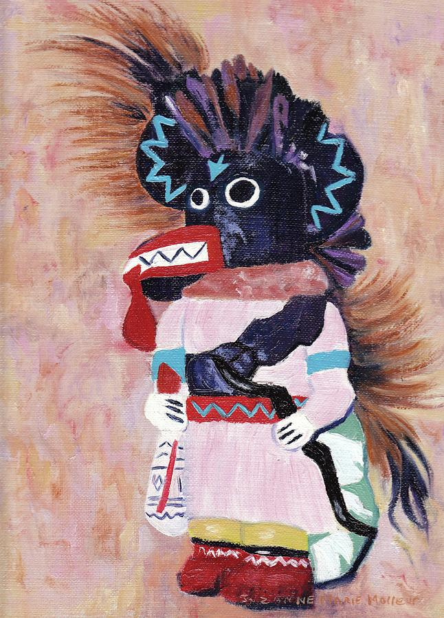 Doll Painting - Katchina by Suzanne  Marie Leclair