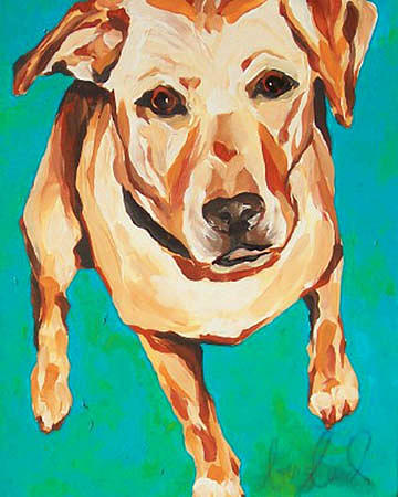Dog Painting - Kate by Alli Berglund