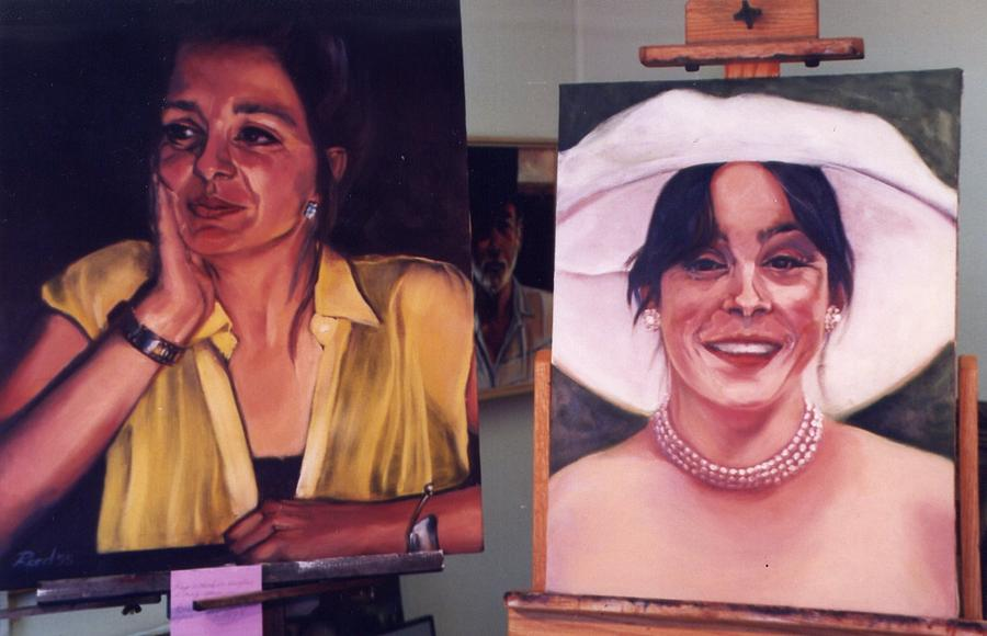 Portrait Painting - Kate And Bronwyn-n by Patricia Reed