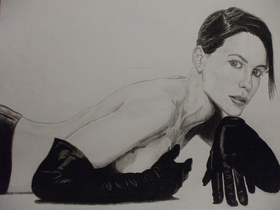 Kate Drawing - Kate Beckinsale by John Prestipino