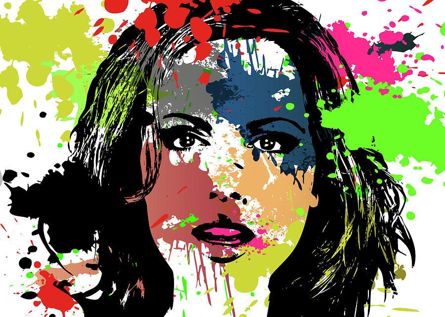 Kate Beckinsale Digital Art - Kate Beckinsale Pop Art by Ricky Barnard