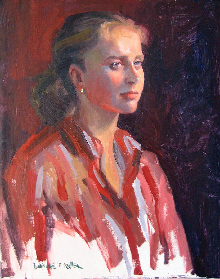 Portrait Painting - Kate by Dianne Panarelli Miller