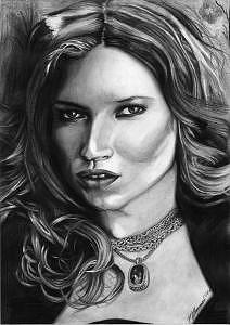 Kate Moss Drawing - Kate Moss by Melissa Anne