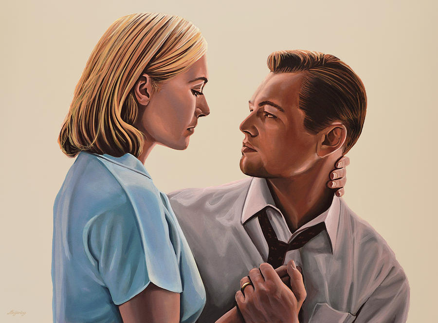Kate Winslet Painting - Kate Winslet And Leonardo Dicaprio by Paul Meijering