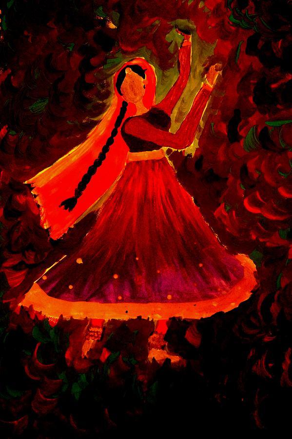 Dance Drawing - Kathak by Mishika Raj