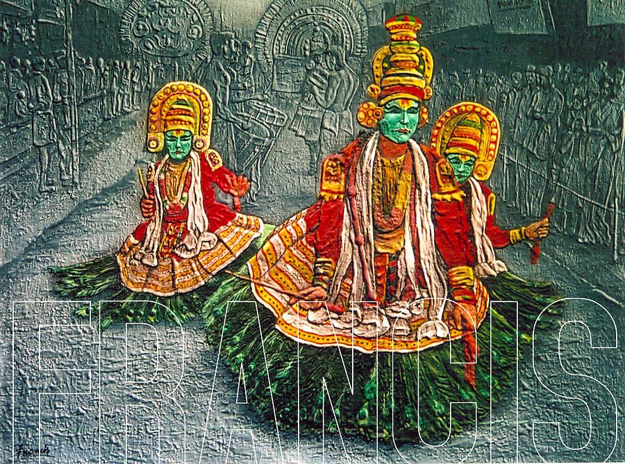 Mixed Media Painting - Kathakali by Francis Xavier