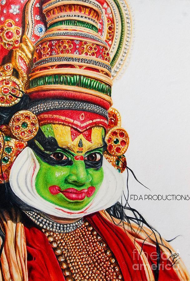 Kathakali Drawing By Pratham Gupta