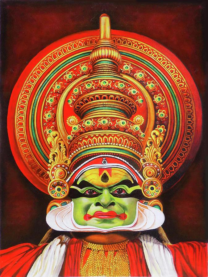 Kathakali The Kerala Dance Art Drawing By Asp Arts