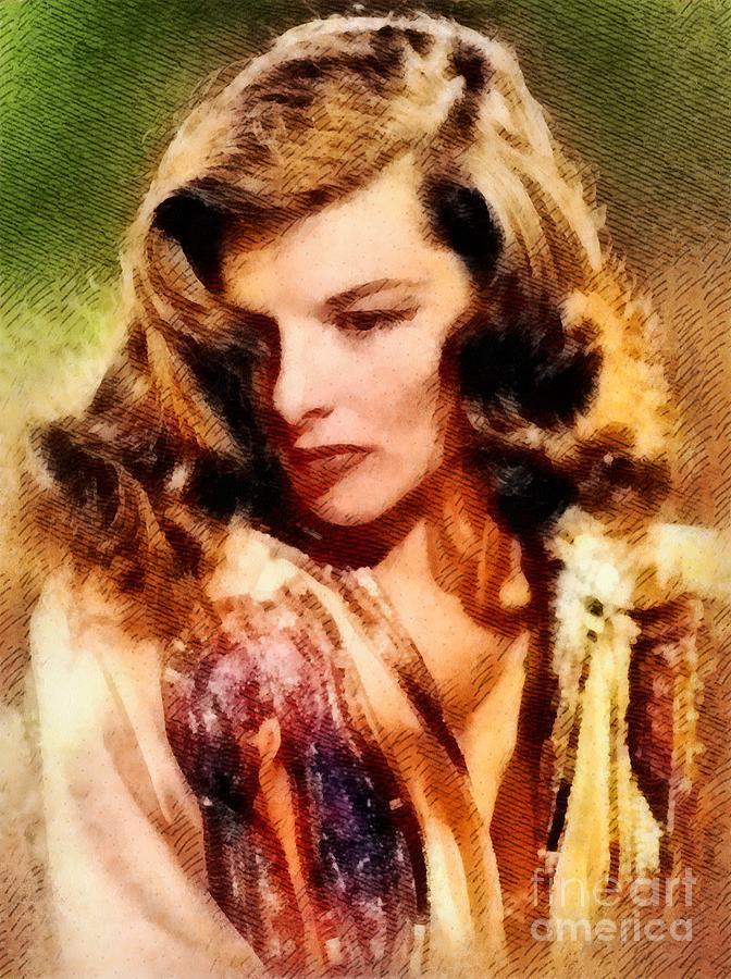 Katharine Hepburn, Hollywood Legend By John Springfield Painting