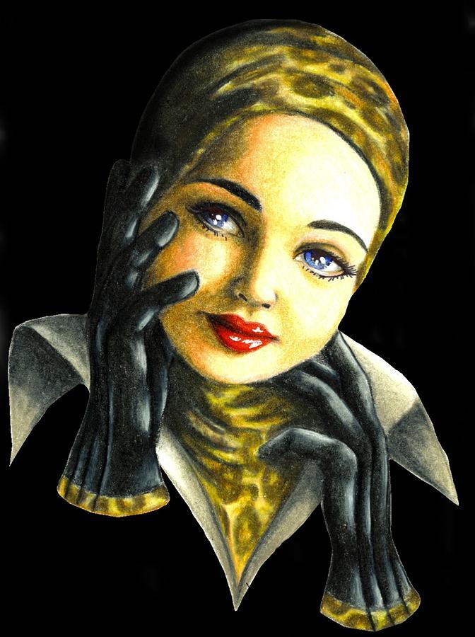 Classic Drawing - Kathrine by Scarlett Royal