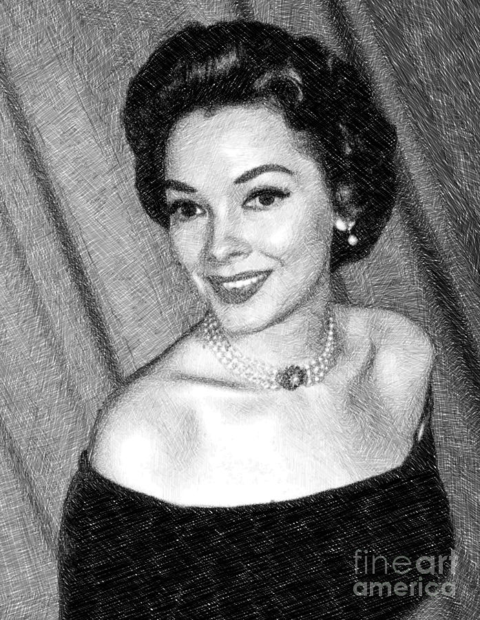 Kathryn Grayson, Vintage Actress By Js Drawing
