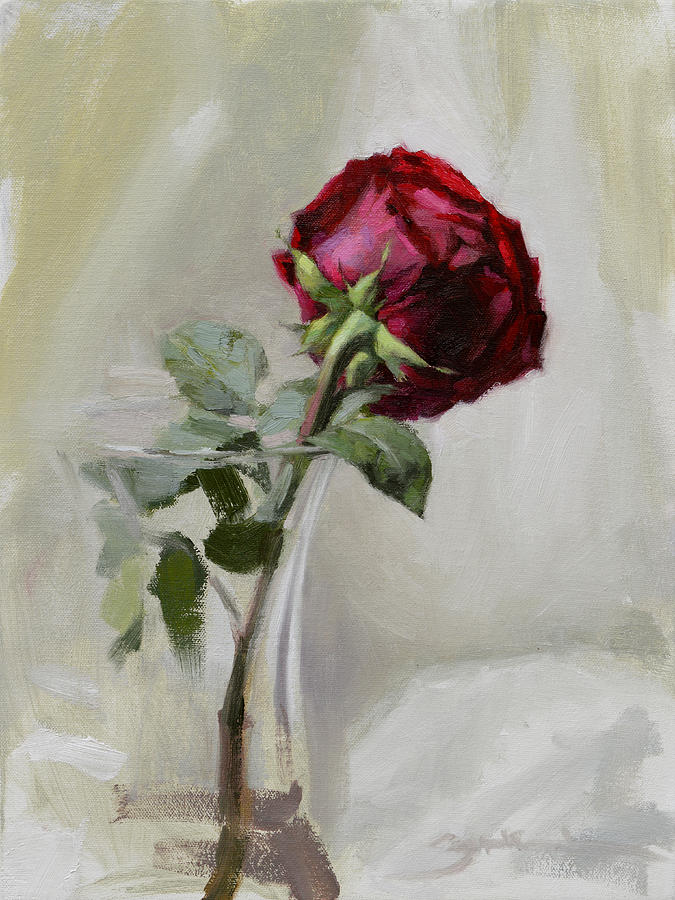 Rose Painting - Big Rose by Ben Hubbard