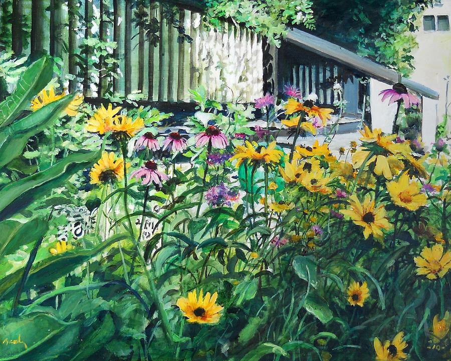 Landscape Painting - Kathys Garden by William Brody