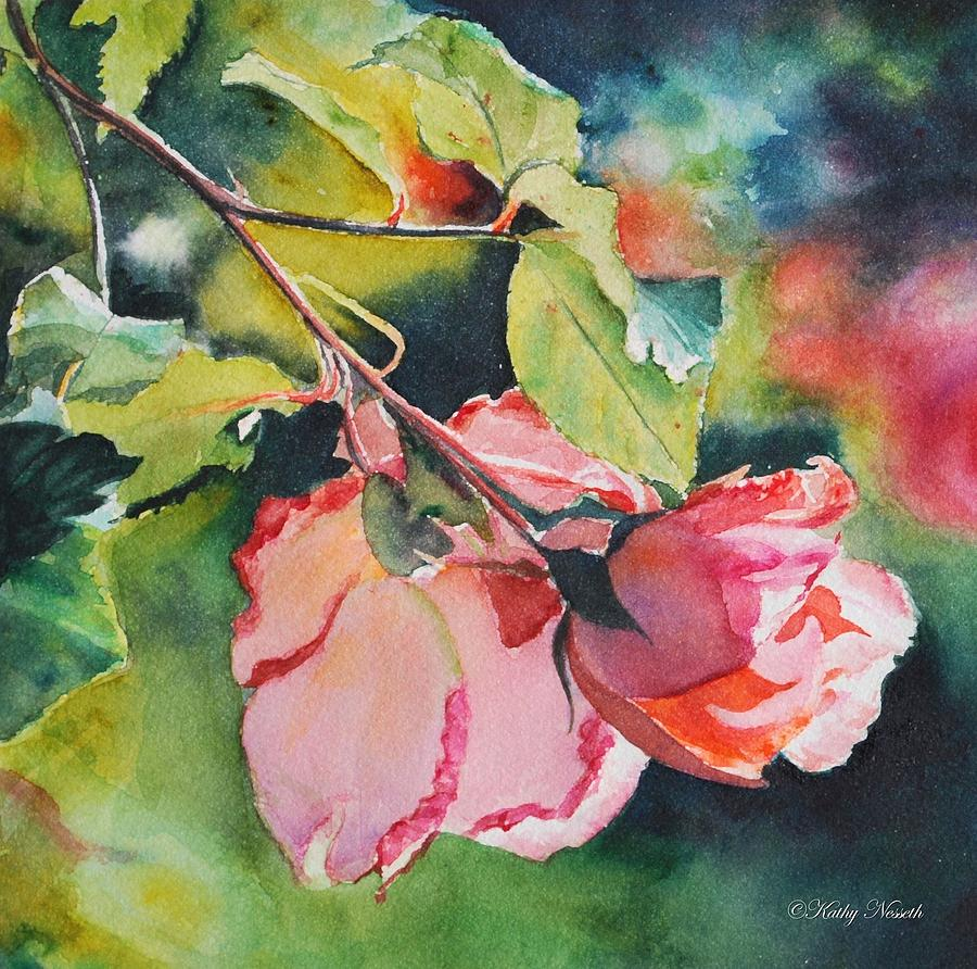 Roses Painting - Kathys Roses by Kathy Nesseth