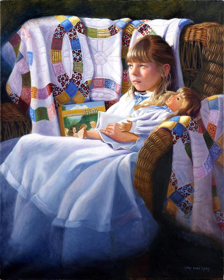 Portrait Painting - Katie by Pat Aube Gray