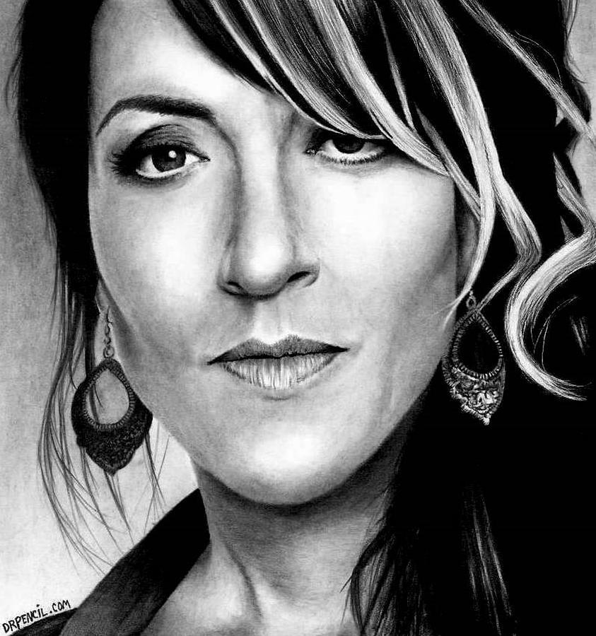 Soa Drawing - Katie Sagal as Gemma Teller by Rick Fortson