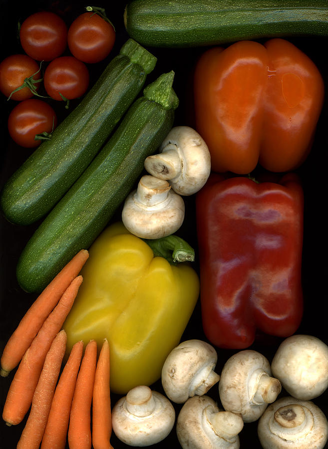 Fruit Photograph - Kats Bell Peppers by Marsha Tudor