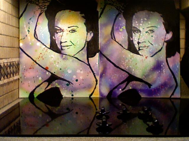 Katy Perry Portraits  Painting - Katy Perry 2 Times  by Thomas Bonnette