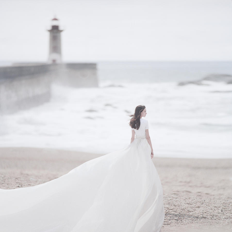Katya and the lighthouse Photograph by Anka Zhuravleva