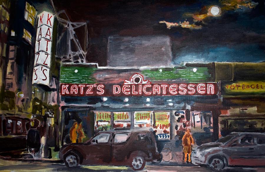 Street Paintings Painting - Katz Deli by Wayne Pearce