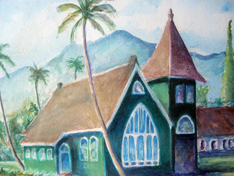 Kauai Church Painting by Mike Segura