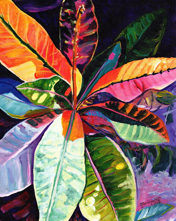 Kauai Croton Leaves by Marionette Taboniar