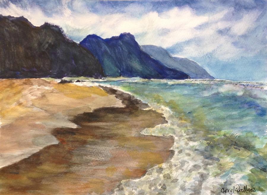 Kauai Painting - Kauai Hoaloha by Cheryl Wallace