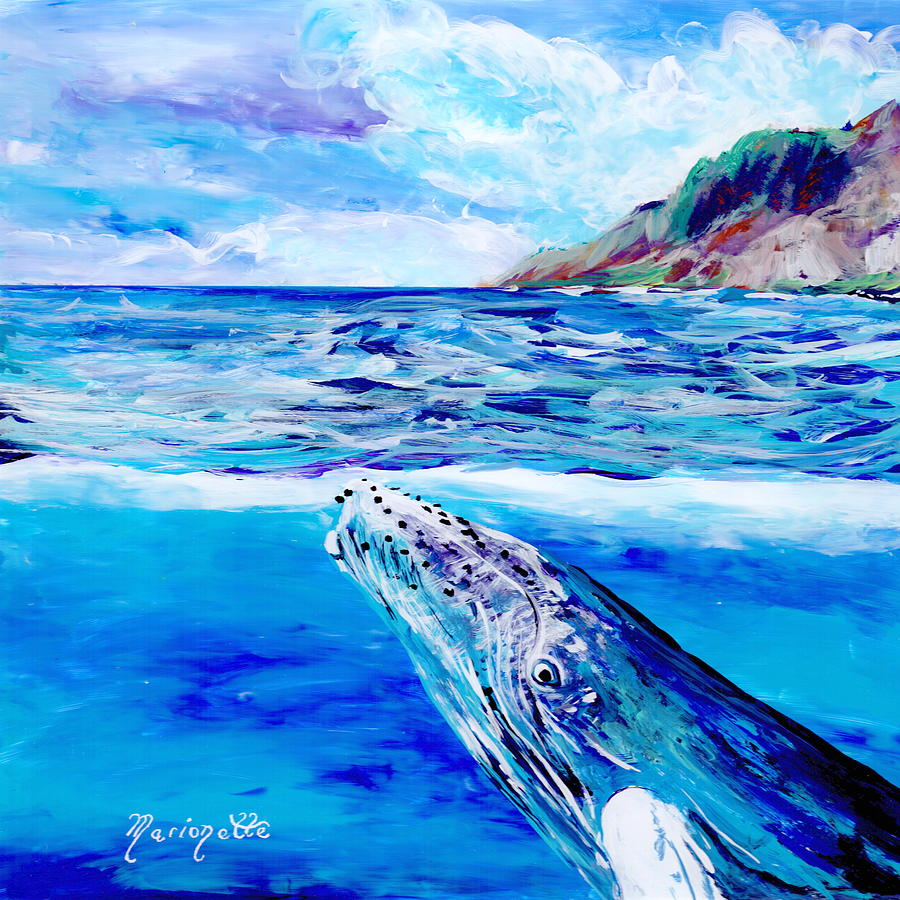 Kauai Humpback Whale by Marionette Taboniar