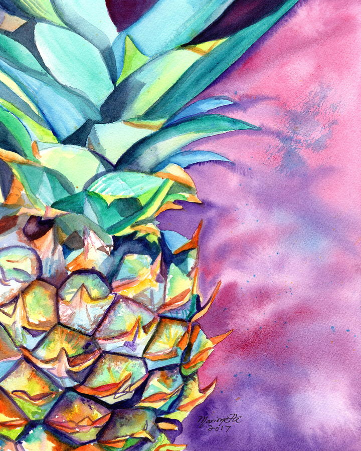 Kauai Pineapple 5 by Marionette Taboniar