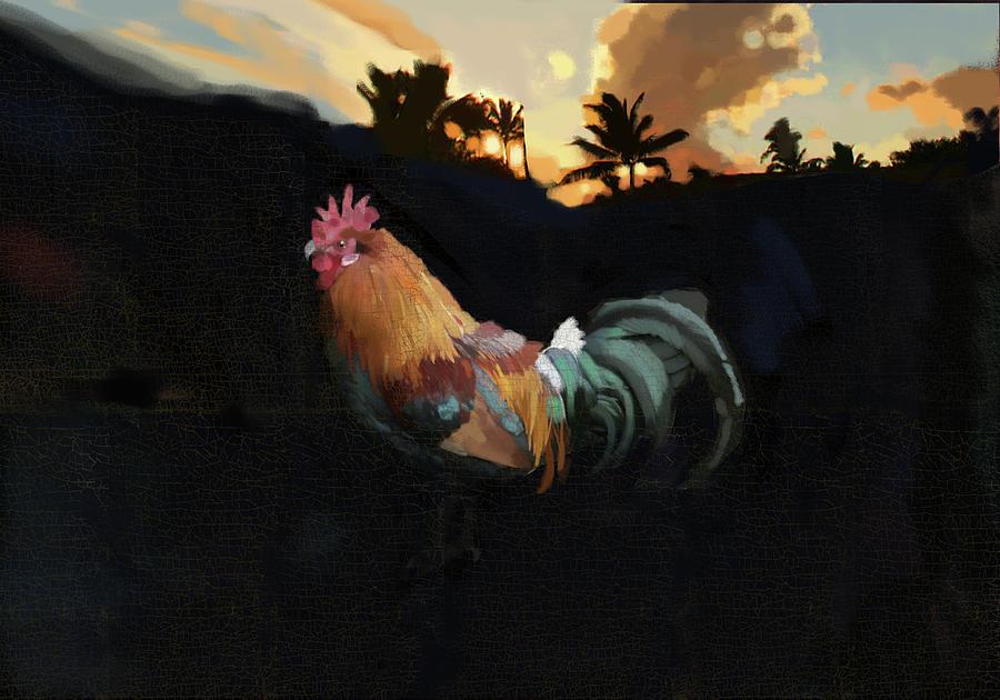 Kauai Rooster Painting