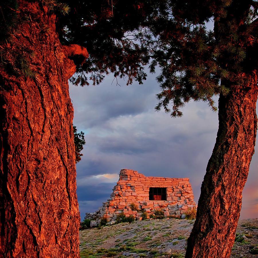 Nature Photograph - Kawanis Cabin Sunset, Albuquerque, New Mexico by Zayne Diamond Photographic