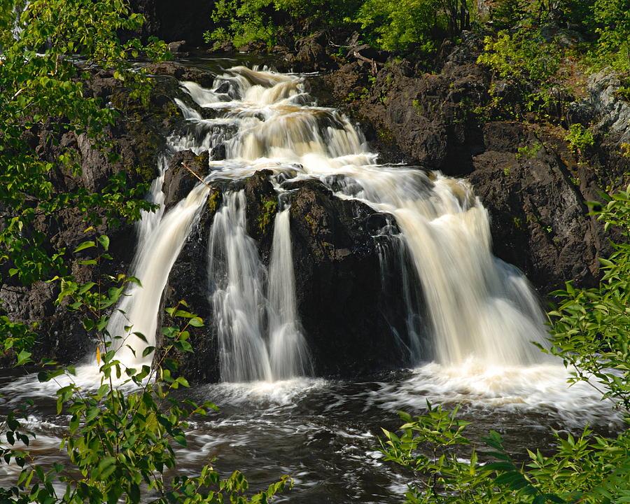 Minnesota Photograph - Kawishiwi Falls by Larry Ricker