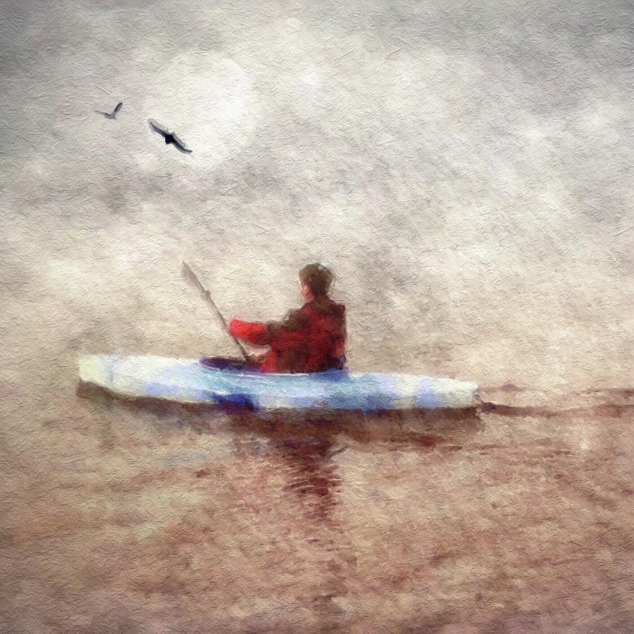 kayak at night by Melissa D Johnston