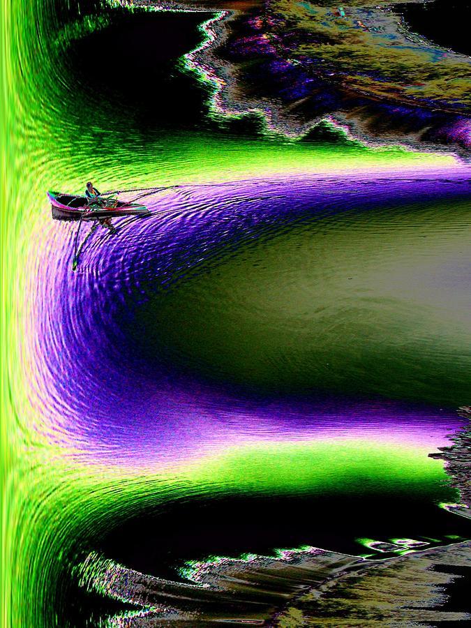 Seattle Digital Art - Kayak In The Cut by Tim Allen