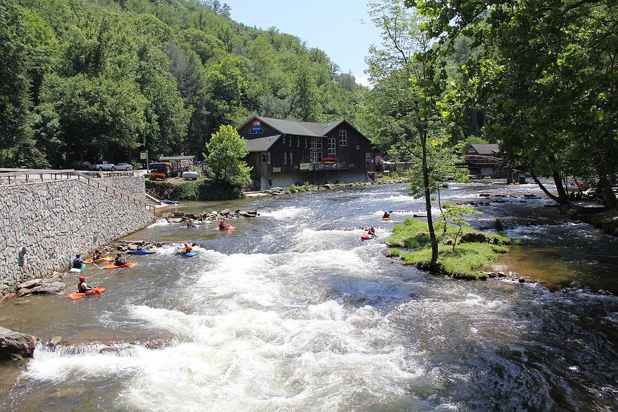 Kayak Photograph - Kayak Practice Waters by Allen Nice-Webb