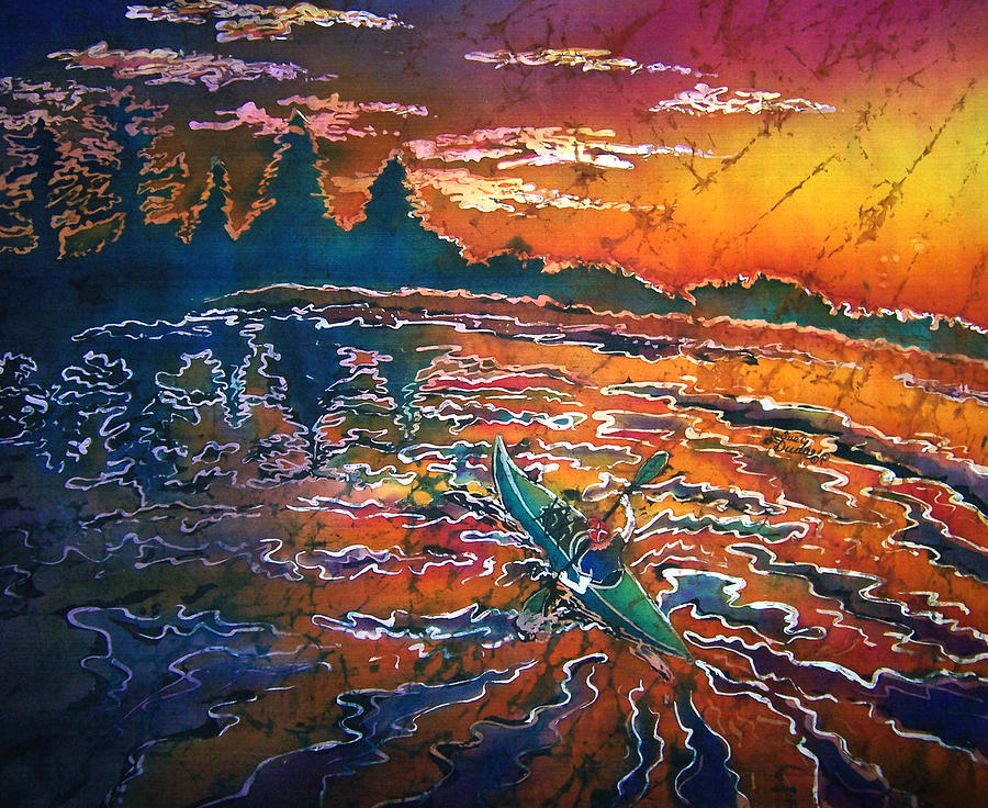Kayak Painting - Kayak Serenity  by Sue Duda