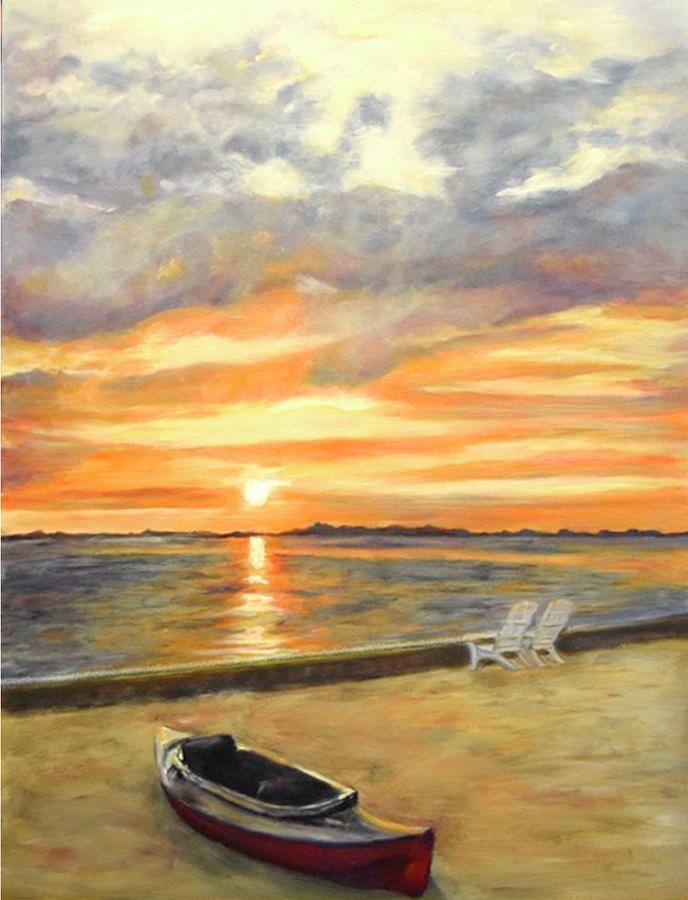 Kayak Sunrise by Sandra Nardone