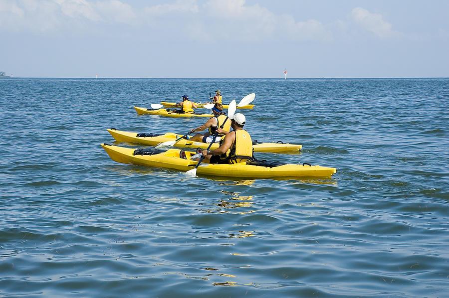 Blue Photograph - Kayak Trip by Stacey Lynn Payne