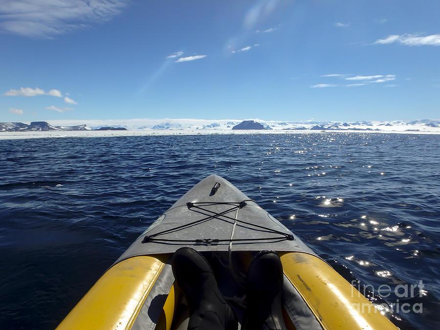 Kayaking Gustaf Sound, Weddell Sea, Antarctica Photograph