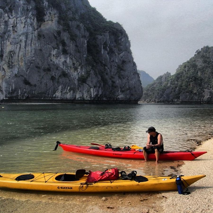 Travel Photograph - Kayaking Halong Bay #vietnam by Paul Dal Sasso