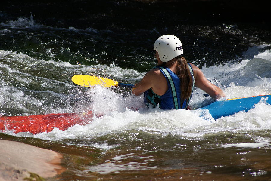 Outdoor Photograph - Kayaking The Brule by Ron Read