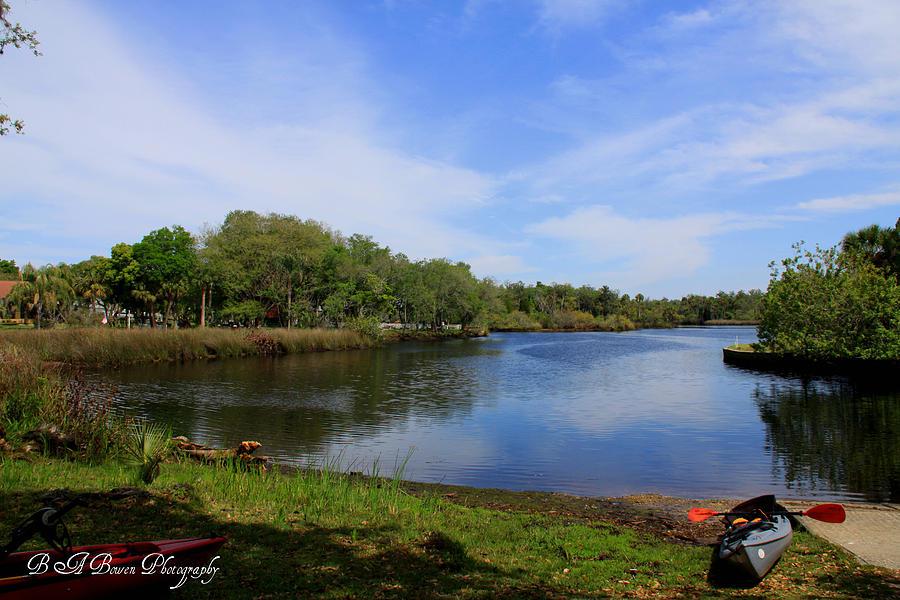Cotee River Photograph - Kayaking The Cotee River by Barbara Bowen