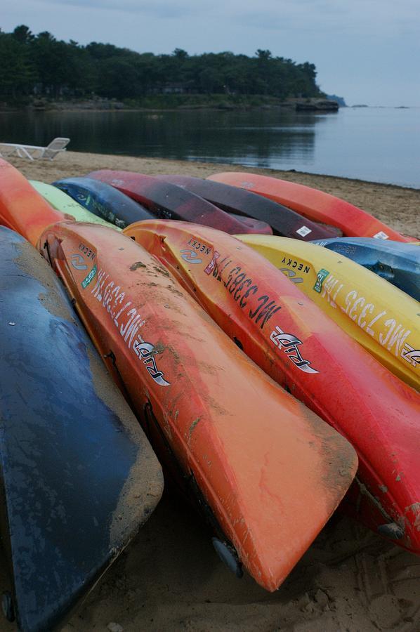 Beach Photograph - Kayaks At Rest by David Frankel