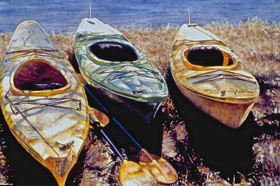 Kayaks by Barbara Pease
